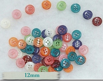BA02, 16 Buttons, 12mm, 4 holes,