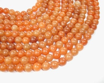 Red Aventurine, Round, 10mm beads, 15.5 Inch, Full strand, Approx 39 beads, Hole 1 mm (367054006)