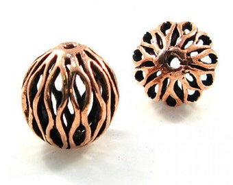 Antiqued Copper Geometric Beads