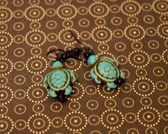 Turquise Turtle Earrings