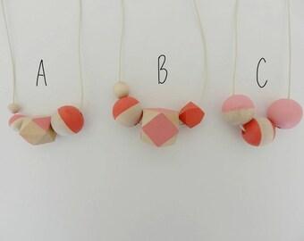 Nursing necklace, Breastfeeding necklace, Sensory necklace, Wooden necklace, Natural necklace, Baby necklace