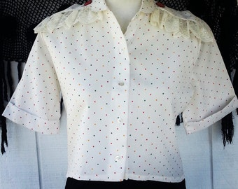 Vintage Clothing - Handmade Top - Upcycled Top - Blouse