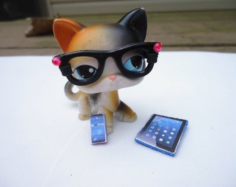 Littlest pet shop accessories Glasses Tablet & Phone LPS Pet NOT included
