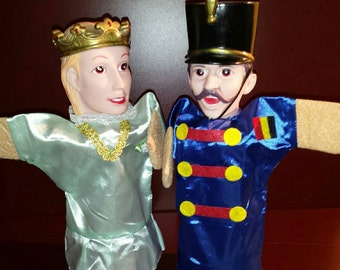Vintage Hand Puppets * Prince and Soldier *