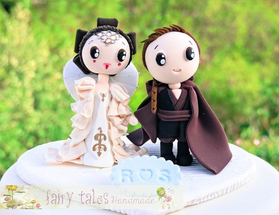 Star wars inspired wedding cake topper with stand princess like this item junglespirit Choice Image
