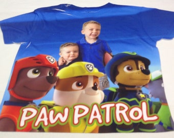 Paw Patrol T-shirt Personalized Kids Paw Patrol shirt Cartoon T-Shirt Paw patrol fan shirt Paw patrol party Kids shirt Birthday gift