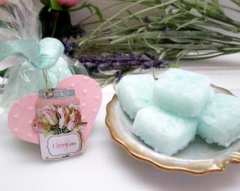 8 oz of Large size sugar scrub bars- luxurious exfoliating scrub bars smooth , polish skin, leaving you feeling fresh & clean- spa treatment