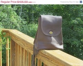 ON SALE Coach Backpack- Brown Leather Large Daypack Boho Style No. 9791 Backpack With Adjustable Straps- EUC