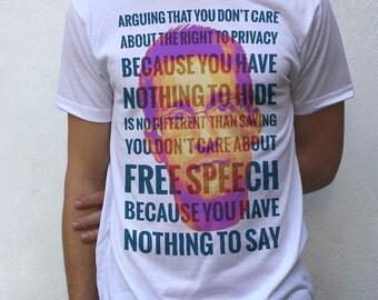 Edward Snowden T shirt Design