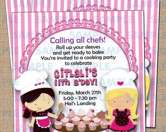 Cupcake Decorating Party Invitations 3