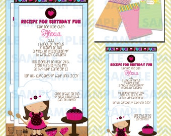 Cupcake Decorating Party Invitations 5