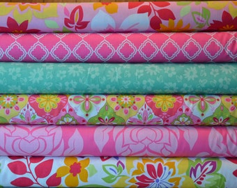 Extravaganza by Lila Tueller - Riley Blake bundle lot of 12 - retro floral damask quilting fabric