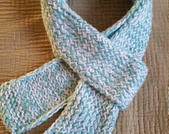 Two-Yarn Flat Knit Scarf