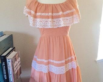 peach gypsy bridesmaid dress