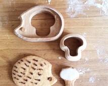Wooden cookies cutter