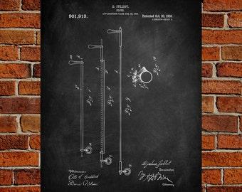 Flute Art Print,  Patent, Flute Vintage Art,  Blueprint,  Poster, PatentPrints, Wall Art, Decor [MU21-2A]