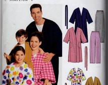 Simplicity 5364 Unisex House Robe and Pants for Kids, Teens and Adults Flannel Fleece Easy-to-Sew Kids Sizes XS-L, Adult Sizes XS-XL 2003