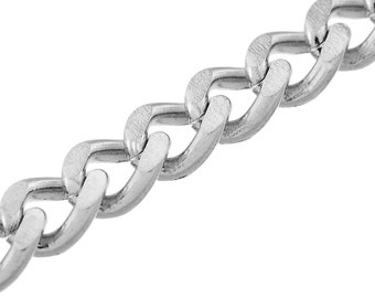 Ready to Wear Stainless Steel Curb Chain Necklaces | 6 mm x 4.5 mm