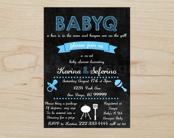 BabyQ Invitation, Baby shower boy, BabyQ boy, babyq shower invitations, baby q invitations, baby q invites, baby q shower invitation