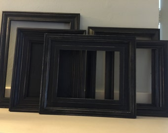 Black Distressed Shabby Picture Frames, The Stroke of Midnight Collection
