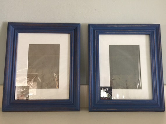 navy blue shabby chic distressed picture frames collection two dancing on a cloud from. Black Bedroom Furniture Sets. Home Design Ideas