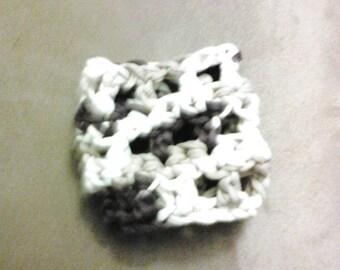 Brown/Tan/White Small Crocheted Bracelet