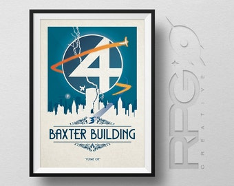 Fantastic 4 Origin Print : Baxter Building - MARVEL