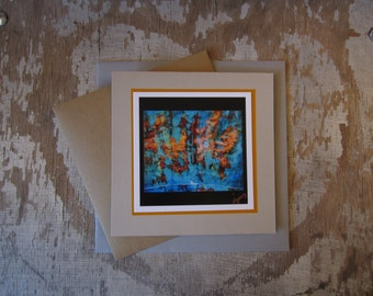 Abstract, Copper Chair, handmade, greeting card, blank, square, photo