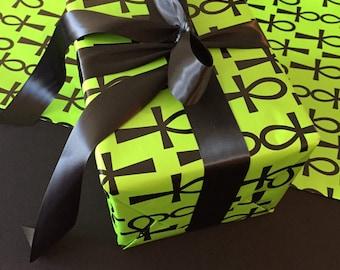RETAIL-Ankh Gift Wrap Paper-Green