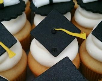 Fondant Graduation Cupcake Toppers, Graduation Cupcakes