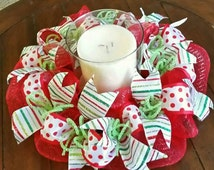 Christmas candle ring wreath.