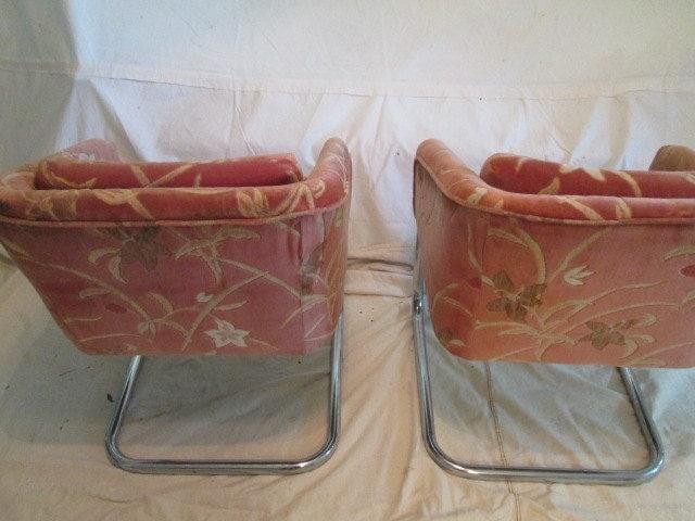 Tremendous Mod Lounge Chairs Tubular Chrome Mid Century Modern Arm Evergreenethics Interior Chair Design Evergreenethicsorg