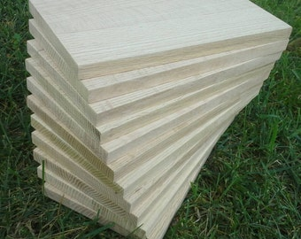 """Ten Dollar 6""""x11"""" White Oak EDGE GRAIN Cheese Cutter/Bread Boards-Engravers Stock Up Now.  No minimum order required."""