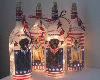 Patriotic Labrador Retriever - Large luminary
