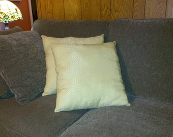 Sparkly Sunshine Yellow Pillow
