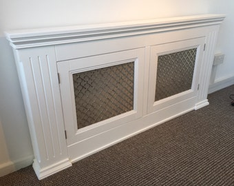 Modern Handmade Radiator Cover/ Sideboard/Cupboard with Decorative Mesh Grill