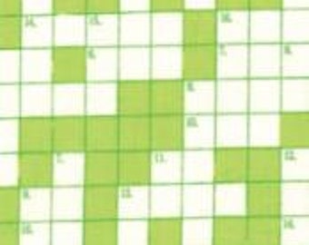 Moda, Bungle Jungle Lime, crossword puzzle fabric