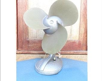 Vintage electric fan from 1960s. Industrial ventilator