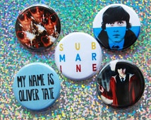 Submarine Pinback Buttons 1 1/4 Inch Assorted