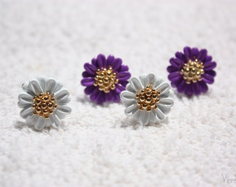 Chrysanthemum Flower Earrings