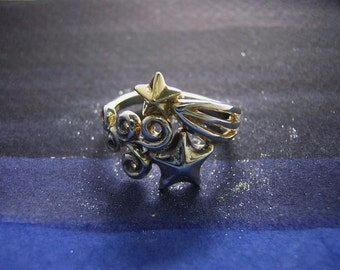 """star gold silver jewelry ring """" stars ω """""""