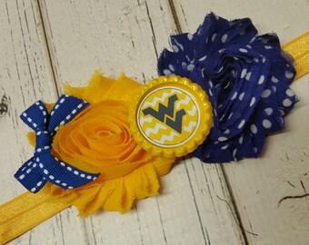 West Virginia Mountaineers elastic headband - baby - child - adult