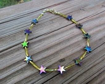 Gold N' Stars Ankle Bracelet