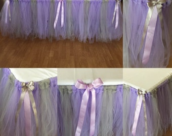 Tulle Tutu Table Skirt (Any Size/Color)