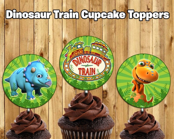 Dinosaur Train Inspired Cupcake Toppers Dinosaur Train Cake Toppers Dinosaur Train Birthday Decoration Dinosaur Train Cupcake Toppers