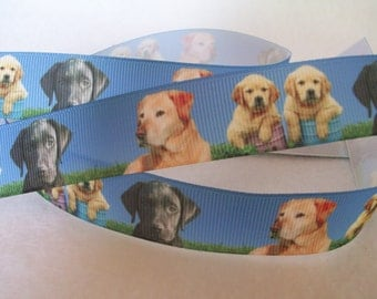 Labrador Retriever Grosgrain Ribbon 7/8""