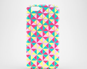 Neon Triangles phone case / Mosaic iPhone 7 case / iPhone 6 / iPhone 5/5S / iPhone 5 / Samsung Galaxy S7, S6 / Galaxy S5