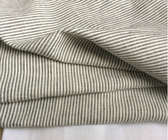 Grey White Ticking Stripe Duvet Cover Set By