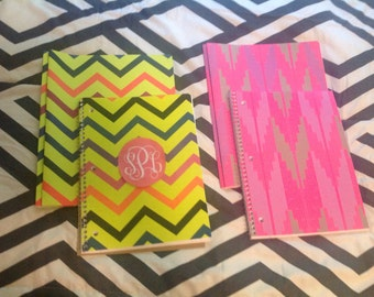 Monogrammed or personalized back to school set, folder and note book or composition book