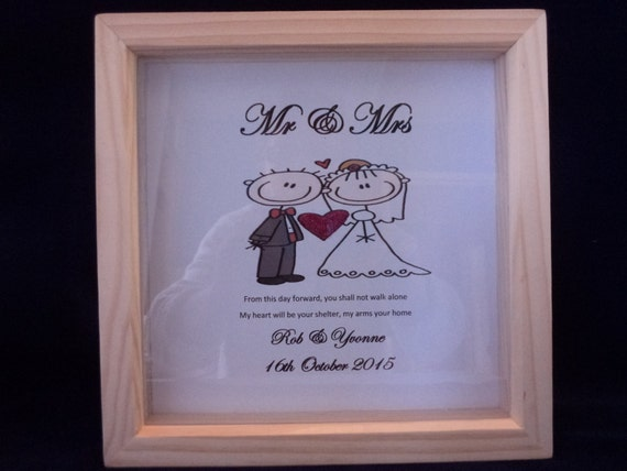 Mr Amp Mrs Bride And Groom Wedding Day Gift By WeddingCreationsShop